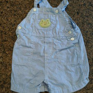 Carter's 12-Month Blue Frog Overalls